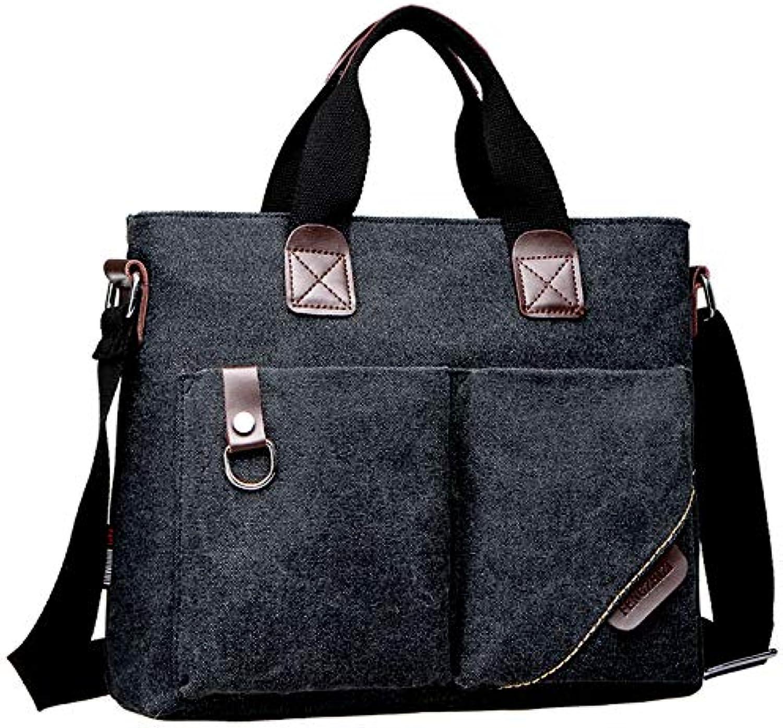 LIUXINDA-NS Männer Klassiker Bag Aktentasche Geschäftsleute Handtasche Schulter diagonal Canvas Messengerbag Männer Casual Taschen B07JHQVF17