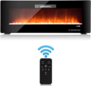 GOFLAME Electric Fireplace Wall Hanging, Insert with Remote Control, Adjustable with Flame Speed,750-1500W (50
