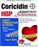 Coricidin HBP Chest Congestion & Cough Liqui-Gels 20 Liqui-Gels (Pack of 5)