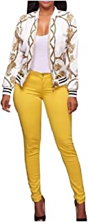 RkBaoye Women's Mini Plus Size Floral Printed Skinny Jacket Trench Coat