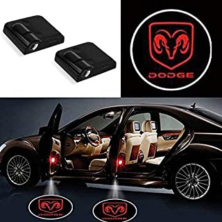 FLYEEGO Wireless Car Door LED Projector Lights, Car Door Welcome lights, Led Car Door Lights, Logo Lights, Shadow Led Lights Compatible with Dodge All Models