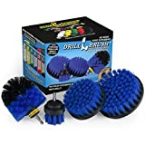 Drillbrush Swimming Pool Accessories - Drill Brush Power Scrubber Kit - Pool Brush for Vinyl Liners - Hot Tubs and Spas - Pool Cover Brush Heads - Hot Tub Power Scrub Brushes - Walls and Deck