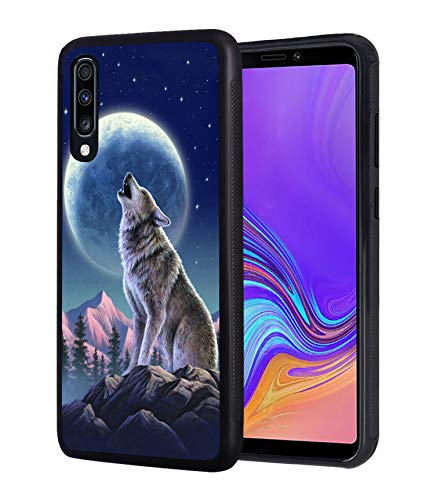 Galaxy A10E Case, Wolf Roar Design Slim Impact Resistant Shock-Absorption Rubber Protective Case Cover for Samsung Galaxy A10E (2019)
