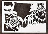 Poster Black Panther Los Vengadores Grafiti Hecho a Mano - Handmade Street Art - Artwork...