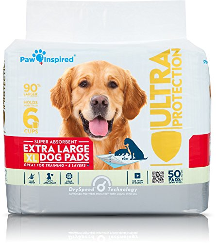 Paw Inspired Extra Large Puppy Pads in bulk | XL Dog Pads | Dog Pee Pads | Puppy Training Pads, Potty Pads (Original, 50 Count)