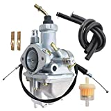 Compatible with Carburetor & Throttle Cable for Yamaha Moto 4 YFM200 1985-1987
