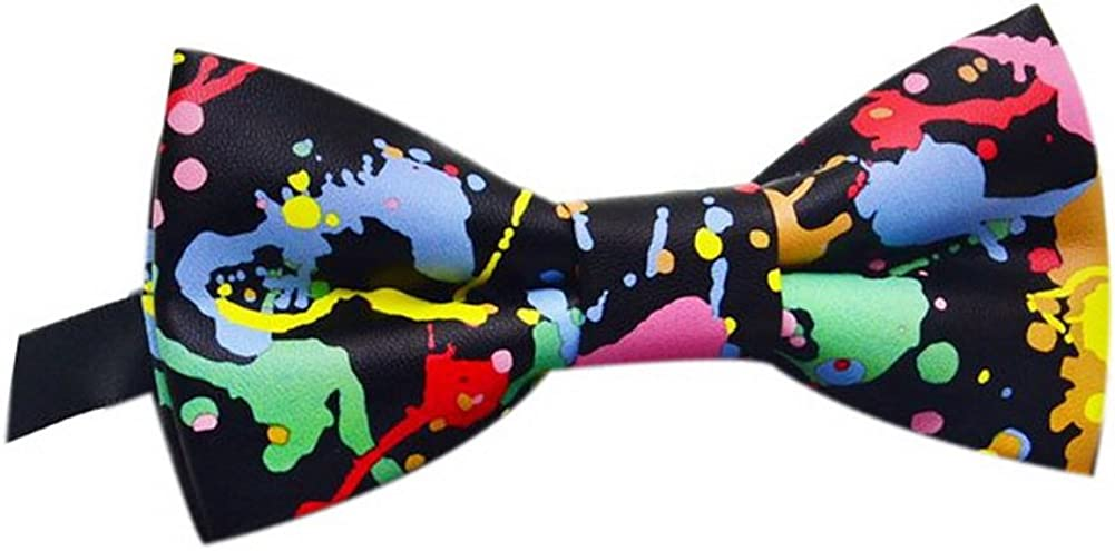 Fashion Men's Printing Bow Tie Wedding Bow Tie Pattern Tie Multicolored Painting