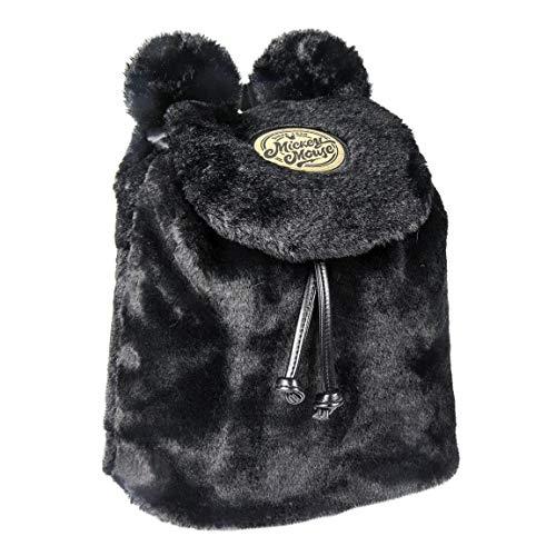 ARTESANIA CERDA Mochila Casual Pelo Mickey, 25 cm, Negro