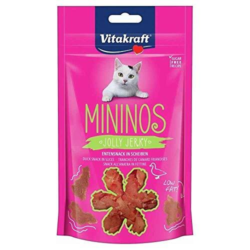 Vitakraft Katzensnack Mininos, Entensnack in Scheiben - 40g