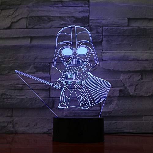 Nur 1 Stück 3d LED Nachtlicht Lampe Darth Vader Kinderzimmer dekorative Farbe ändern USB 3d Lampe für Kid Boy Geburtstagsgeschenk
