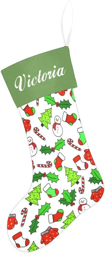 Amazon Com Yeshop Cartoon Christmas Pattern Christmas Stocking For Family Xmas Holiday Party Home Decoration Gift Home Kitchen