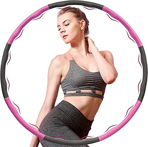 URUSANA Hula Hoop Reifen Erwachsene Hullahub Reifen zum Abnehmen Hula Hoop Reifen Kinder 1,2 kg Hoola Hoop Anfänger Sport Fitness Sportgerät Zuhause für Gewichtsverlust 6-8 Teilig zum Befüllen