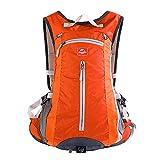 Tofern 15L impermeable del hombro de nylon deportes al aire libre Mochila bolso de la correa Bicicleta de ciclo que viaja que acampa yendo de la mochila del morral con montaje en casco ~ Sistema de Orange