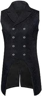 DEVIL Moda Da Uomo Gilet Panciotto Nero Argento Damasco Goth Steampunk aristocratico