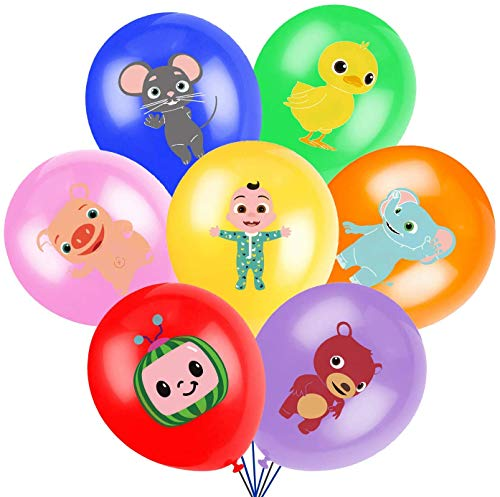 Cocomelon Birthday Party Supplies 28 pcs Balloons Cocomelon Theme Party Supplies Birthday Party Decorations for Kids Includes 7 Styles