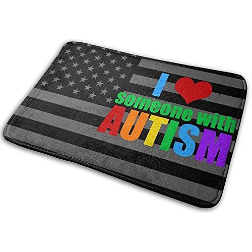 Liumt I Love Someone with Autism Mat Tappetino da Bagno Antiscivolo Tappetino...