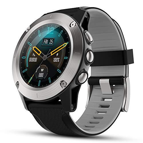 TEZER Smartwatch Herren Fitness Tracker Voll Touchscreen Fitness Armband mit Farbbildschirm Pulsuhren Aktivitätstracker Schrittzähler Musiksteuerung Outdoor Sportuhr für Huawei Android iOS (Silber)
