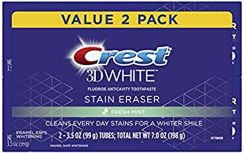 2-Pack Crest 3D White Stain Eraser Whitening Toothpaste