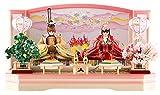 雛人形 リカちゃん 久月 ひな人形 平飾り 親王飾り シリアル入 h313-ri-244
