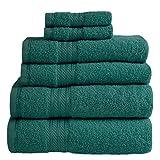 Linens Limited 6 Toallas de Hotel - 100% extraordinario algodón Egipcio - Verde Bosque
