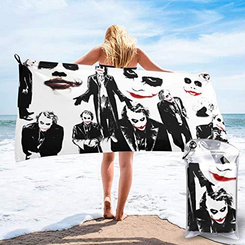 songyang Toalla de playa de microfibra Joker Why So Serious Qui Dry Toalla de baño ultra suave y ligera para hombres y mujeres, viajes, camping, yoga, al aire libre