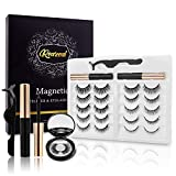 10-Pairs Magnetic Eyelashes Kit With Mirror Case Strong Magnetic Waterproof Magnetic Eyeliner Natural Look Different Lengths&Densities False Lashes No Glue Needed