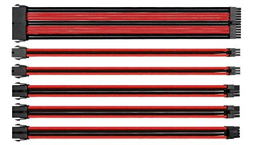 Thermaltake TtMod Sleeved Cable (Kabelverlängerung für Netzteile mit Extra-Sleeves) schwarz/rot