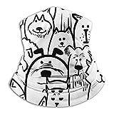 ネックウォーマー フェイスマスク マスク 犬のコレクション ヘッドバンド 多機能 バンダナ 防寒 防風 埃よけ 花粉症に対策 釣り サイクリング スキー 登山 秋冬用 男女兼用 フリーサイズ