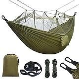 Hamaca de Mosquitero Ultra Ligera para Viaje y Camping,300kg de Capacidad de Carga,Nylon de Paracaídas de Secado...