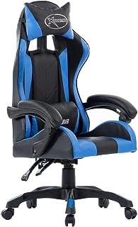 pedkit Silla Gaming de Cuero sintético Azul Ergonómica Regulable Altura Ajustable 360° Giratorio para Oficina Hogar y Gaming