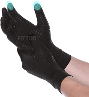 FITTOO Anti-Slip Arthritis Gloves (1 Pair) Gentle Compression for Recovery and Relieve Symptoms of Arthritis, RSI, Carpal ...