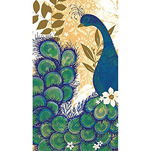 Peacock Blue Guest Paper Towels | 16 Ct.