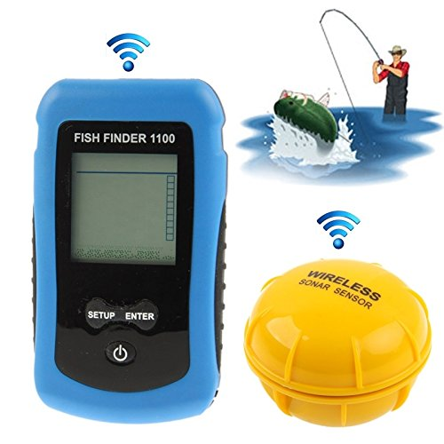 IWGR Fishing Tools Angeln Funkbetriebsbereich: 40 m (1100) Angeln, RF-Tuner Fish Finder LCD-Farbdisplay mit Sonarsensor Werkzeuge
