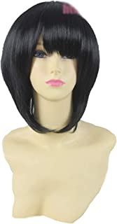 HOOLAZA Black Short Thicken Straight with Bangs Cosplay Wig Another Misaki Mei Cosplay Wig