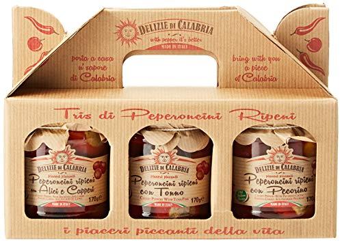 Delizie di Calabria Kraft Peperoncini Ripieni Trio di...
