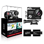 AKASO Brave 4 4K 20MP WiFi Action Camera Ultra HD with EIS 30m Underwater Waterproof Camera Remote Control 5X Zoom… 9 UPGRADE SERIES OF AKASO EK7000: Featuring 4K/24fps, 2K/30fps and 1080P/60FPS video resolution and 20MP photos, AKASO Brave 4 action camera enables you to take incredible photos and ultra HD videos, clearly recording the beauty and wonders in life! OPTIONAL VIEW ANGLE AND ANTI-SHAKING: Adjust the view angle of this action camera according to your needs between 170°, 140°, 110°, and 70°. Built in smart gyroscope for anti-shaking and image stabilization to make your video much more smooth. SPORTS CAMERA WITH WIFI AND HDMI: Sharing & editing videos from an action camera is easier with the free app. Just download the App on your phone or tablet and connect with this action camera. Wi-Fi signal ranges up to 10 meters. With HDMI Port allows you to connect it with television.