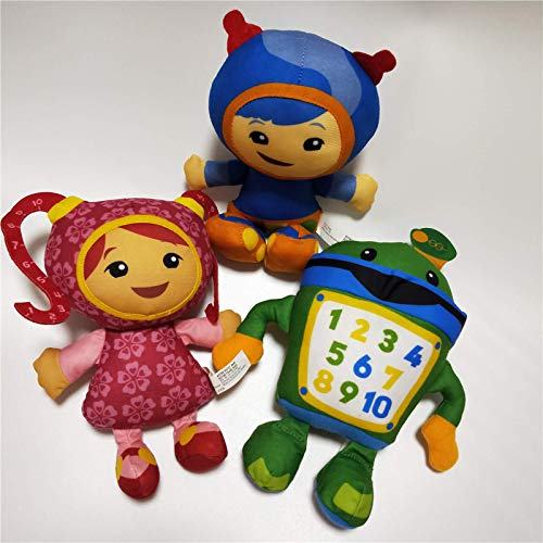 3pcs/lot 20cm Team Umizoomi Plush Toy Bot MILLI Geo Doll Soft Stuffed Toys for Children Kids Christmas Gifts