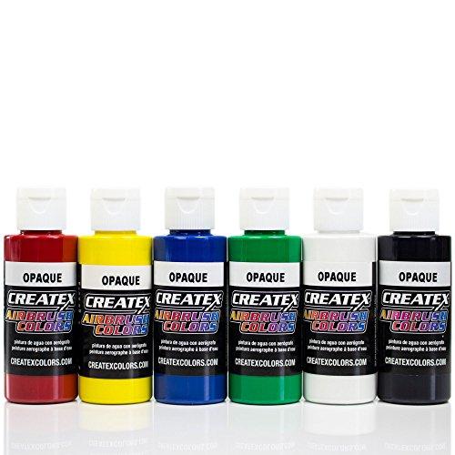 Airbrush Farben 6x 60 ml Createx Opak Basis Grundfarben Set Airbrushfarben
