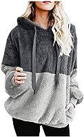 Mujer Sudadera Caliente y Esponjoso Tops Chaqueta Suéter Abrigo Jersey Mujer Otoño-Invierno Talla Grande Hoodie Sudadera...