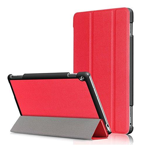 Kepuch Custer Hülle für Huawei MediaPad M3 Lite 10,Smart PU-Leder Hüllen Schutzhülle Tasche Case Cover für Huawei MediaPad M3 Lite 10 - Rot