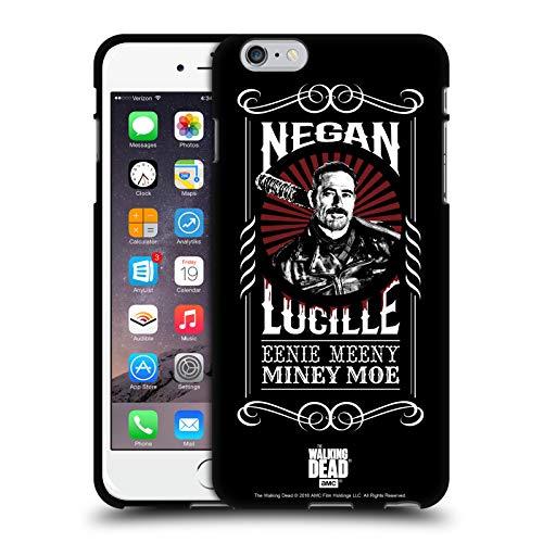 Oficial AMC The Walking Dead Lucille Negan Biker Art - Arte para Bicicleta Funda de Gel Negro Compatible con Apple iPhone 6 Plus/iPhone 6s Plus