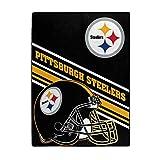 NFL Pittsburgh Steelers 'Slant' Raschel Throw Blanket, 60' x 80'