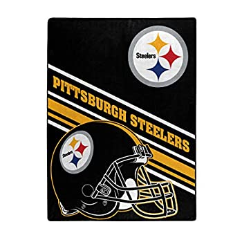 NFL Pittsburgh Steelers  Slant  Raschel Throw Blanket 60  x 80