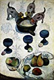Feeling at home Lamina-sobre-Lienzo-ENROLLADA-Cm_93_X_64-Gauguin-Paul-Animales-Perros-frutas-y-animales-Canvas-enrollado-380gr-100% Lienzo