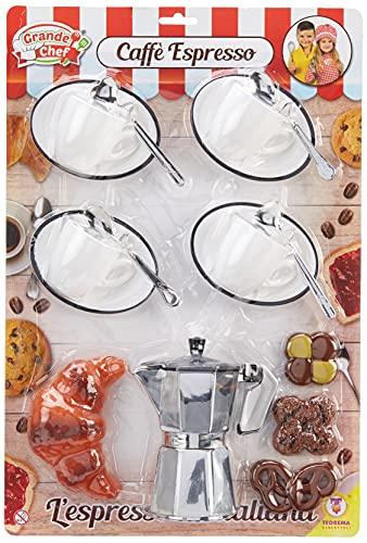 Teorema- Grande Chef-Set caffè con Caffettiera e Tazzine, Multicolore, 63018
