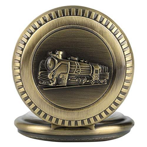 HBIN Reloj de Bolsillo estándar de regulación ferroviaria, Reloj de Bolsillo de Tren Motor de Vapor