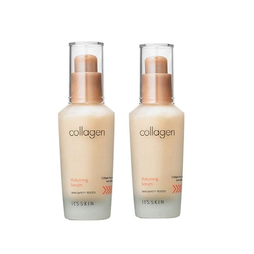 メーカーマット病なイッツスキンコラーゲン弾力セラム40ml x 2本セット、It's Skin Collagen Voluming Serum 40ml x 2ea Set [並行輸入品]
