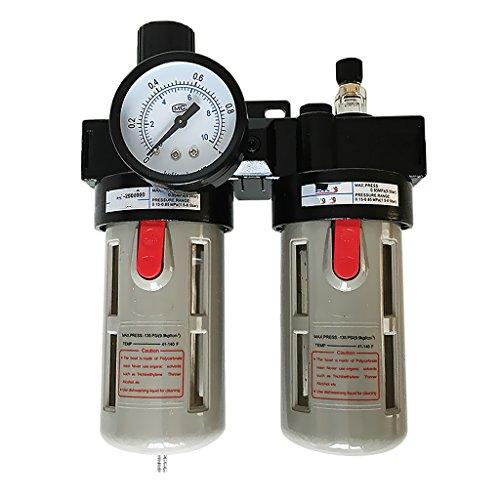 Druckluft Wasserabscheider mit Ölnebel, Druckminderer für Kompressor, 1/2 '' Luftregler Filter