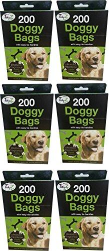 Sacs de ramassage pour chien avec poignées Lot de 1200 Sacs