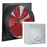 Uzman-Versand - Ventilatore da parete industriale da 450 mm, con regolatore del numero di giri, da 500 Watt